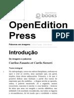 FAUSTO Carlos Introdução Palavras Em Imagens - Introdução - OpenEdition Press