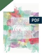 The Hillsdale Forum April 2016