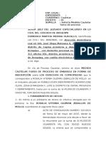 Medida Cautelar Fuera de Proceso de Domenica Medina Huacallo 1