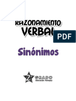 Sinónimos 2º Grado Primaria