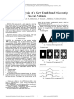 Design and Analysis of a New Dual Band Microstrip Fractal Antenna