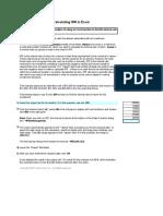 Tutorial Excel IRR 1