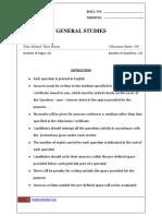 UPSC Sample paper