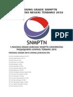 45 PASSING GRADE SNMPTN UNIVERSITAS NEGERI TERBARU 2016.docx