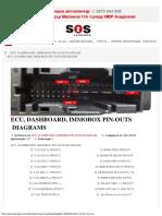 Ecu, Dashboard, Immobox Pin-outs Diagrams