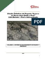 Informe de Mantenimiento Calle Machala -Pisuli e Intercambiador