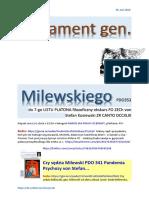 Testament gen. Milewskiego PDO353 do 7-go LISTU PLATONA filozoficzny ekskurs FO ZECh von Stefan Kosiewski ZR CANTO DCCXLIII 20160630 Magazyn Europejski SOWA