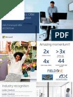 Microsoft Dynamics CRM 2016 Value Proposition