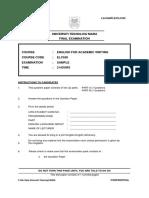 Elc550 Sample Final Exam Cover