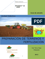 Manual de preparación de terrenos y fertilizantes, capacidad 1