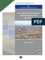 Plan Metropolitano de Preparacion Aante Desastres 2015 - 2018