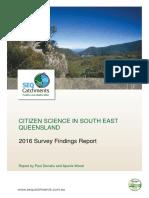Citizen scientists in SEQ - 2016 Survey report