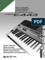 Manual Yamaha E443