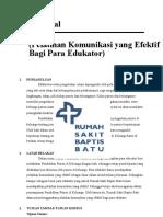 Proposal Diklat Kom Yg Efektif Bagi Para Edukator