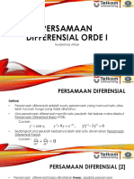 02 Persamaan Diferensial Orde I