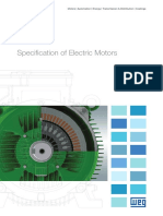 WEG Specification of Electric Motors 50039409 Manual English