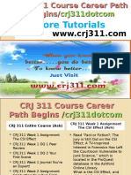 CRJ 311 Course Career Path Begins Crj311dotcom