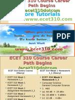 ECET 310 Course Career Path Begins Ecet310dotcom