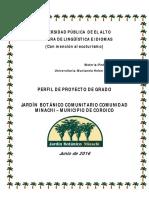 Perfil Proyecto Jardin Botanico - Minachi