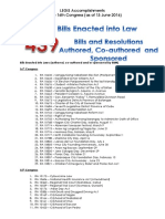 LEGIS Accomplishments 15th - 16th Congress as of 13 June 2016
