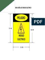 Dimensiones Señal de Riesgo Electrico