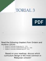 Curriculum studies, tutorial 3