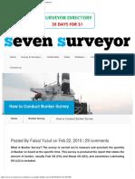 7Surveyor How to Conduct Bunker Survey Marine Surveyor Information