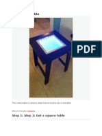 Touch LED Table