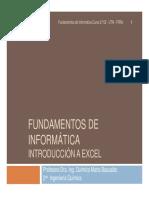 2- Fundamentos de Informática - Introduccion a Excel
