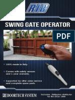 RIB Swing Gate Operator