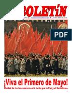 Boletin del Ateneo Paz y Socialismo de mayo de 2016