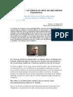 La Ciencia Se Hace en Una Matriz Filosófica. Mario Bunge Entrevistado Por Pampa García Molina