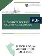 El Quehacer Del Arquitecto Peruano y Sus Estudios