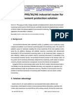 GPRS 3G 4G Industrial Router for Environment Protection Solution