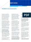 [PMI, 2011] the Bottom Line on Sustainability