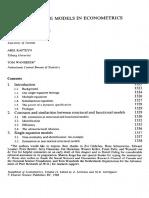 [Aigner] Handbook of Econometrics. Latent Variable