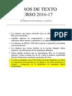Libros de Texto IES Sierra de Santa Bárbara curso 2016-17