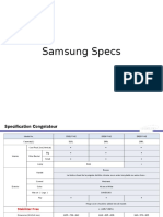 Samsung Specs REF and CHESTF