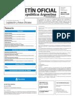 Boletín Oficial de la República Argentina, Número 33.409. 30 de junio de 2016