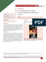 Ex Situ Repair of Pre-Hilar Aneurysmal Lesion of the Renal Artery