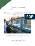 Energia Especifica y Momenta en Canales - Azaña Montañez Deivy