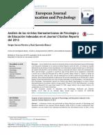 Análisis de Las Revistas Iberoamericanas de Psicología y