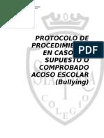 Protocolo de Bullying 2014