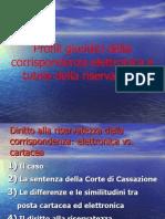 Carlo Prisco, Profili Giuridici Della Corrispondenza Elettronica e Tutela Della Riservatezza