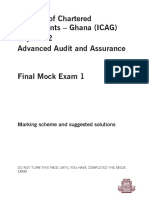 Advance Audit Assurance Ans