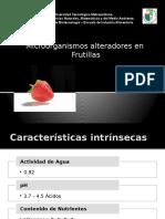 microorganismos alteradores de la Frutillas
