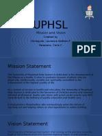 UPHSL Mission and Vision