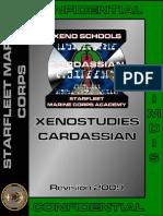 Xenostudies Cardassian Manual