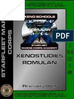 Xenostudies Romulan Manual
