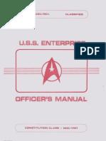 USS Enterprise NCC-1701 Officers Manual